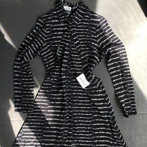 Two Arrows Black/White shirt dress
